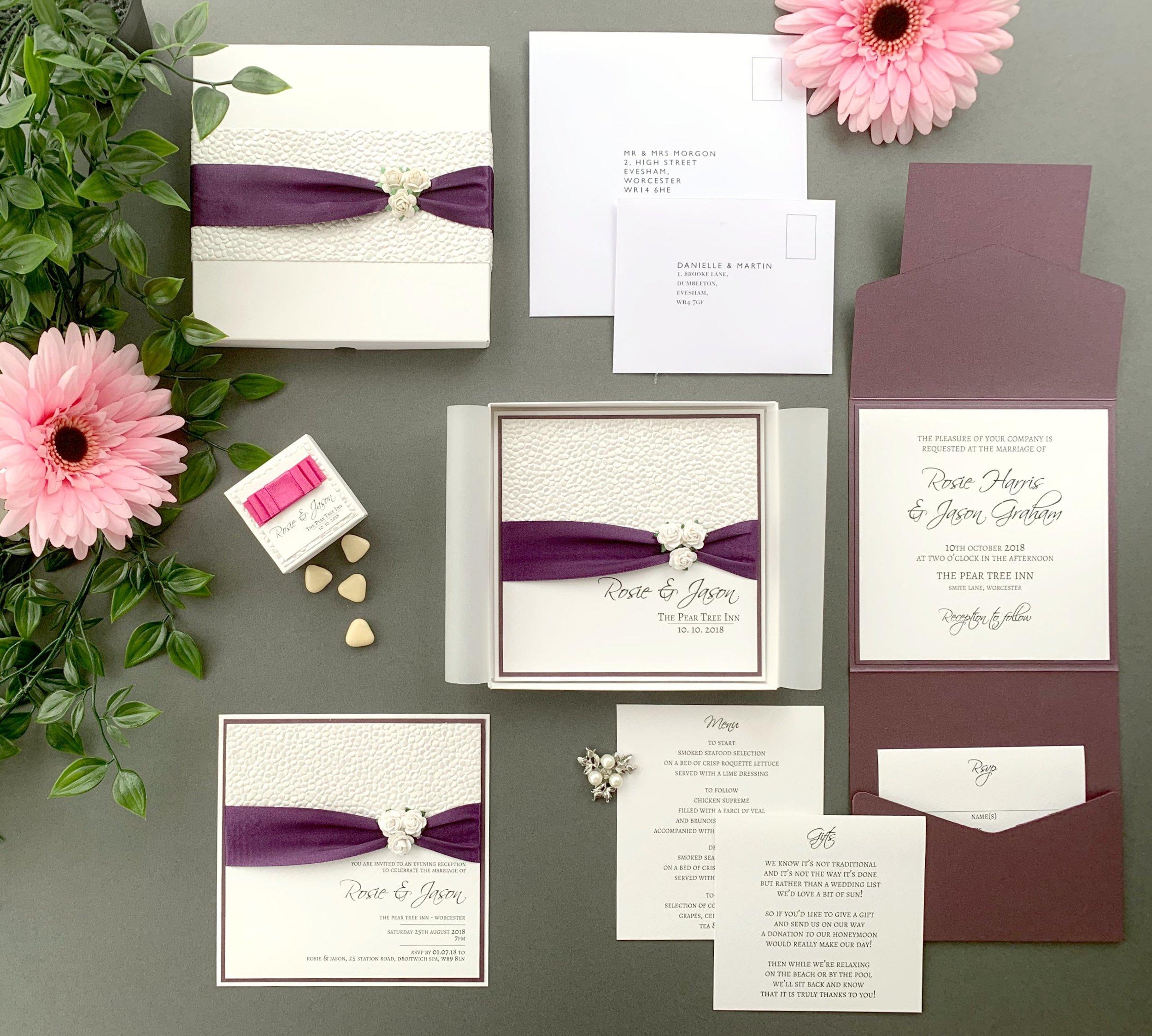 Phoebe Folded Invitation
