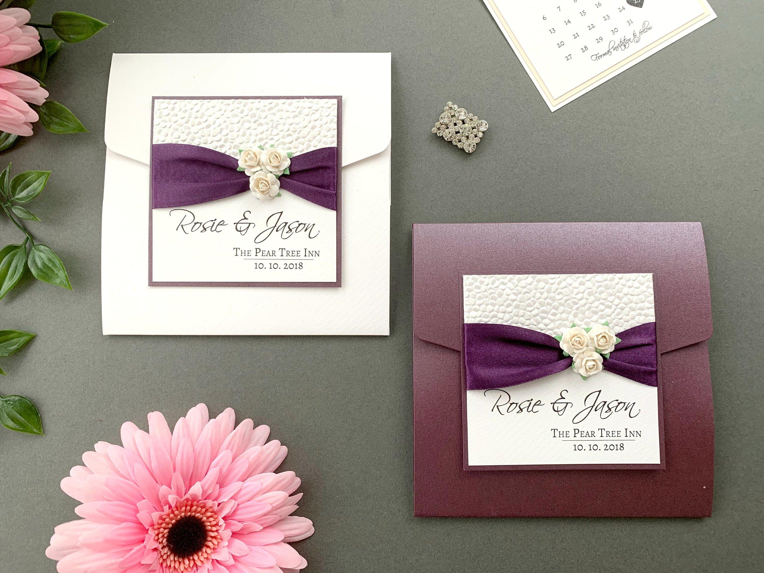 Standard and Coloured Pocketfold Invitation