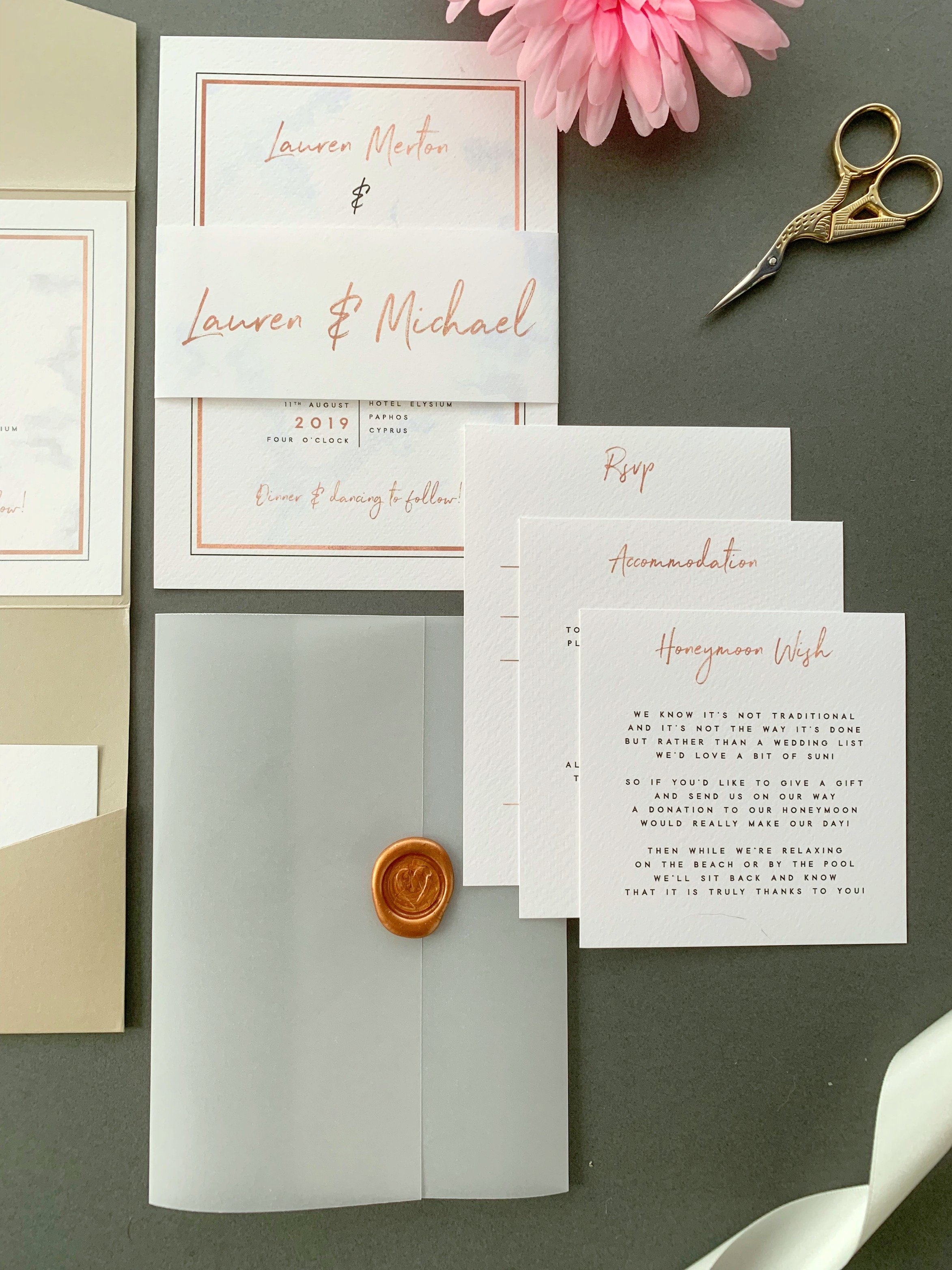 Chiswick classic invitation suite with inserts