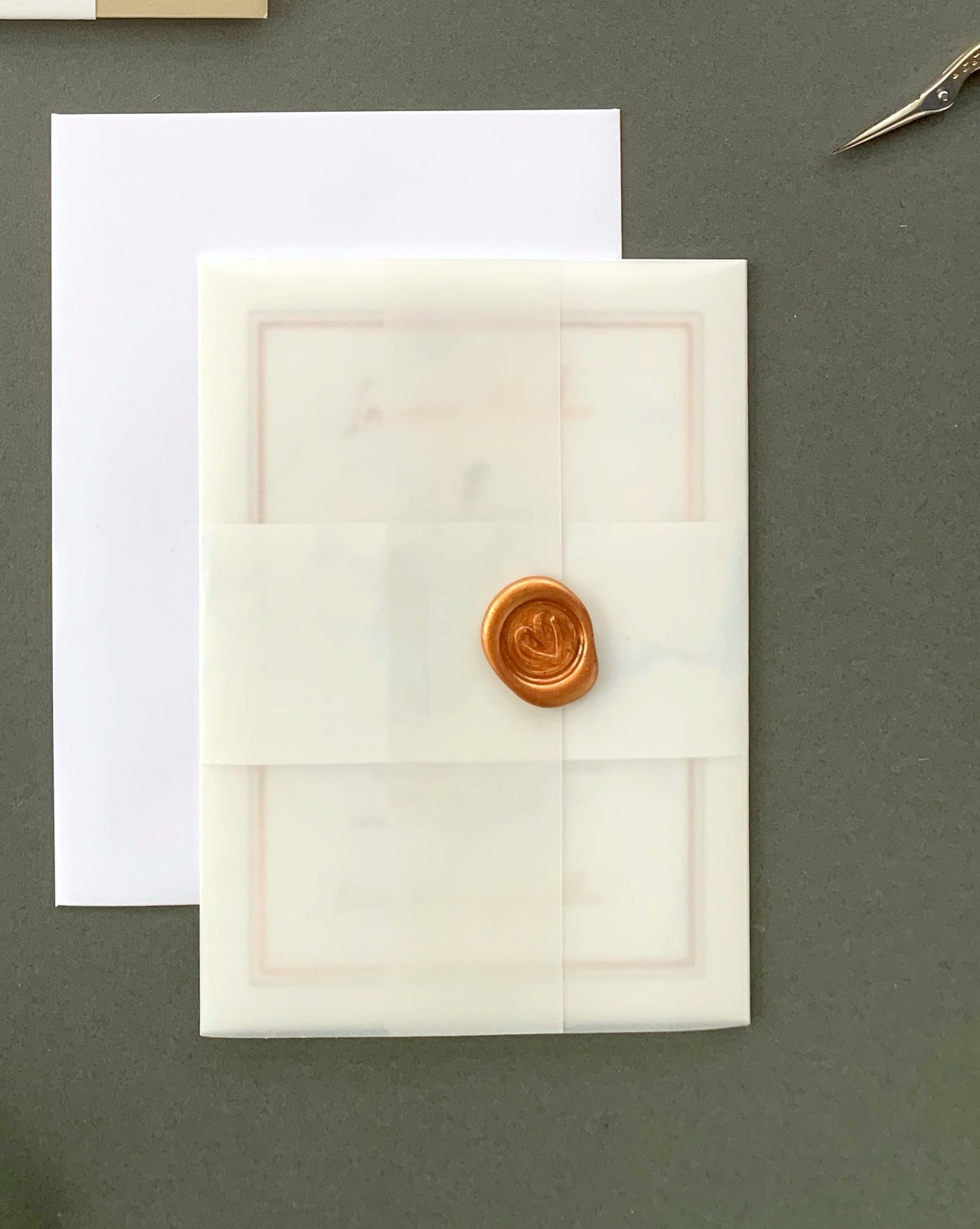 Chiswick - Concertina Invitation with Vellum Jacket and Wax Seal