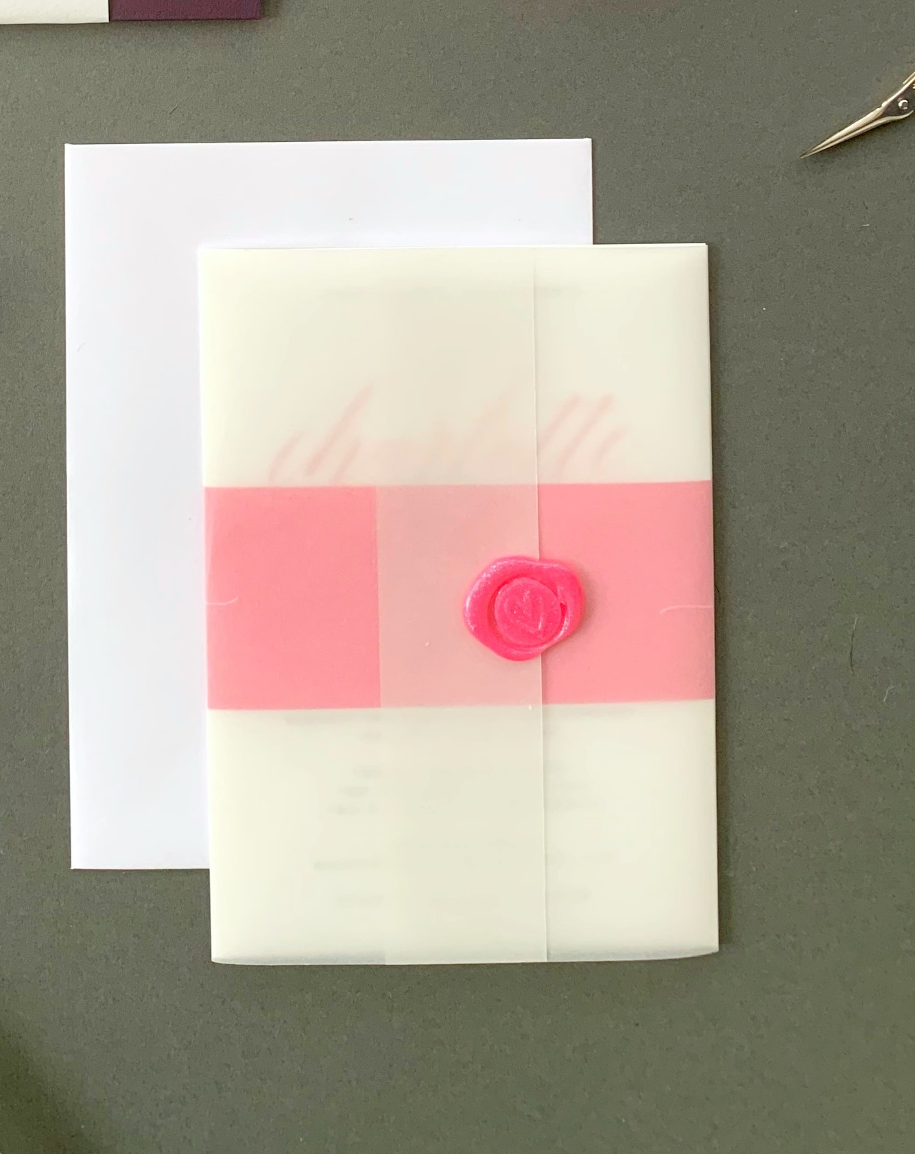 King's Road - Invitation Suite with Vellum Jacket and Wax Seal