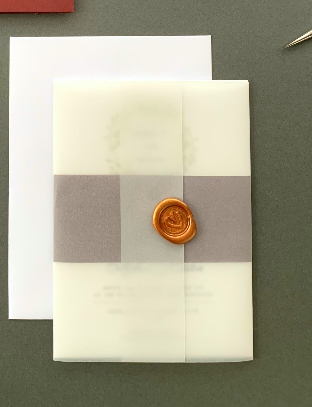Mayfair - Invitation Suite with Vellum Jacket and Wax Seal