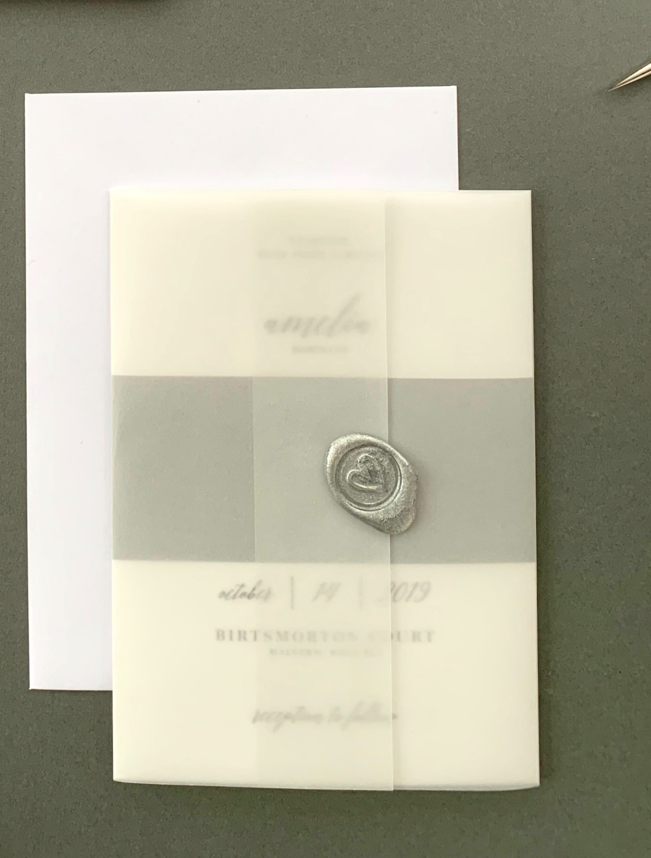 Westminster - Invitation Suite with Vellum Jacket and Wax Seal