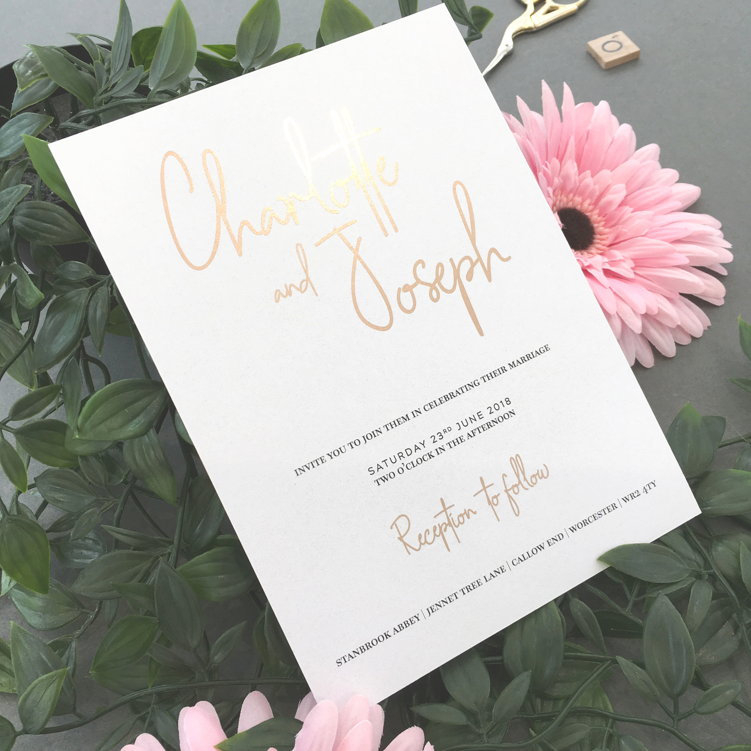 Chancery Lane - Rose Gold Foiled Invite.jpg