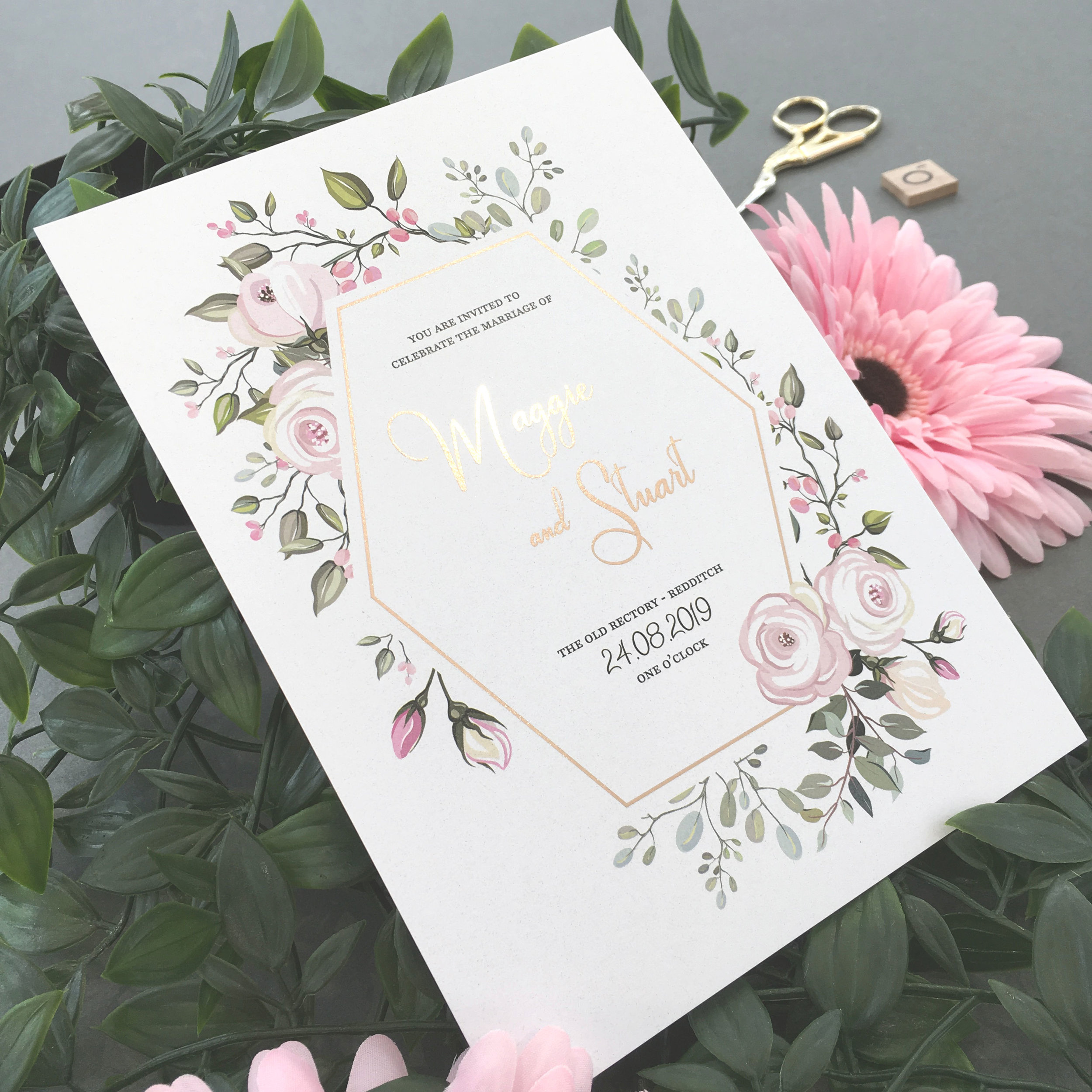 Royal Oak - Rose Gold Foiled Invite.jpg