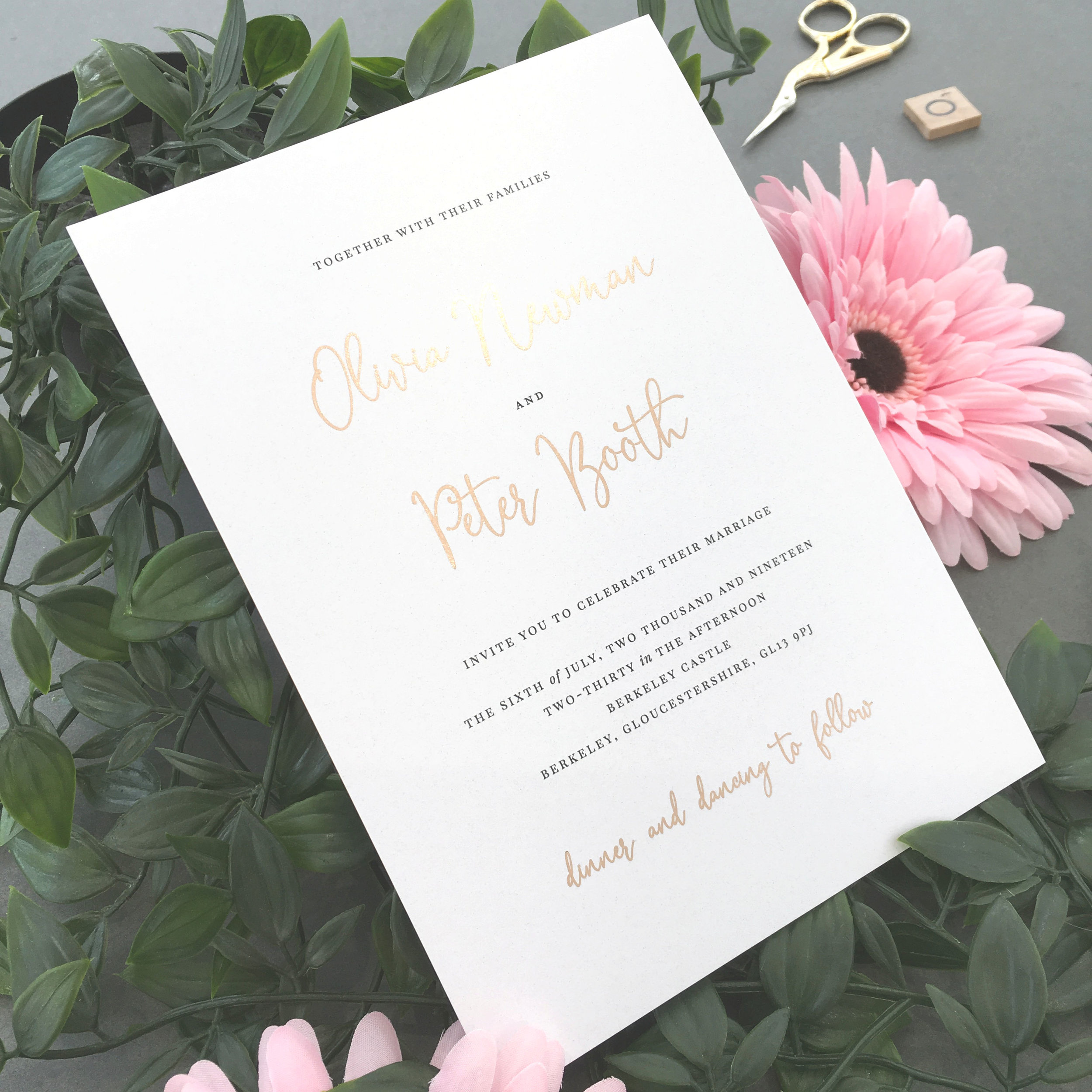 Foiled Invitations -