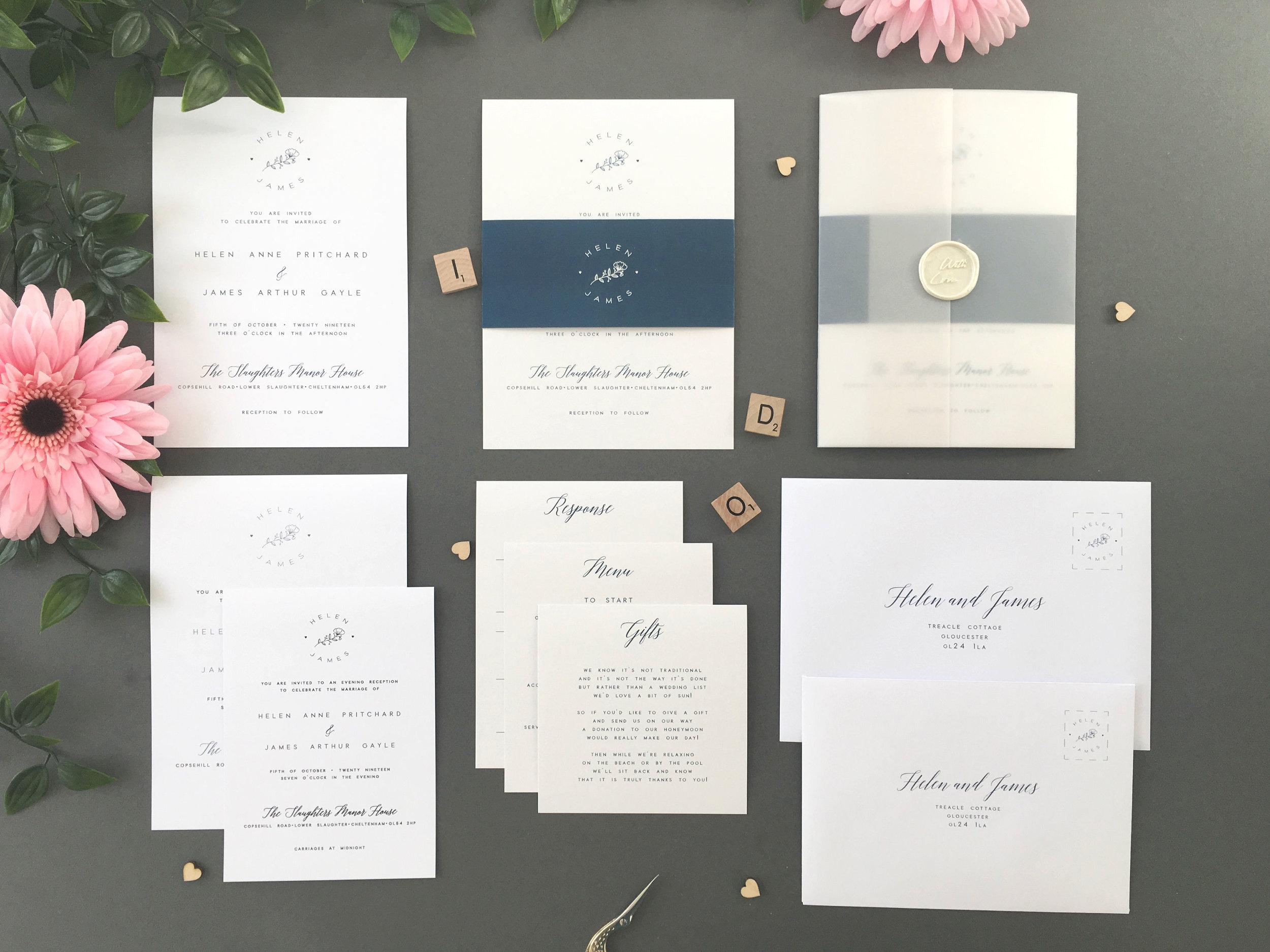 Classic Invitation Suites