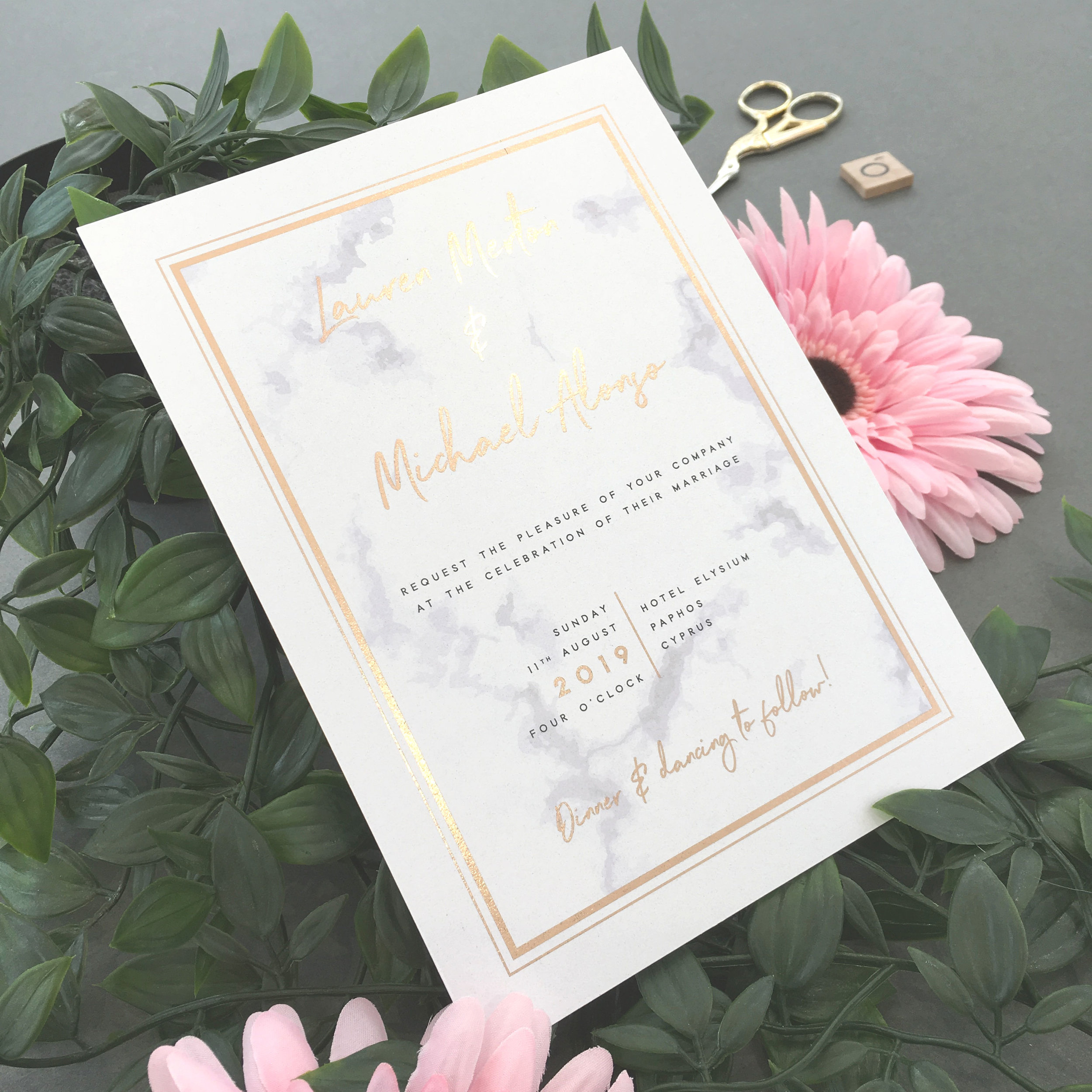 Foiled Invitations