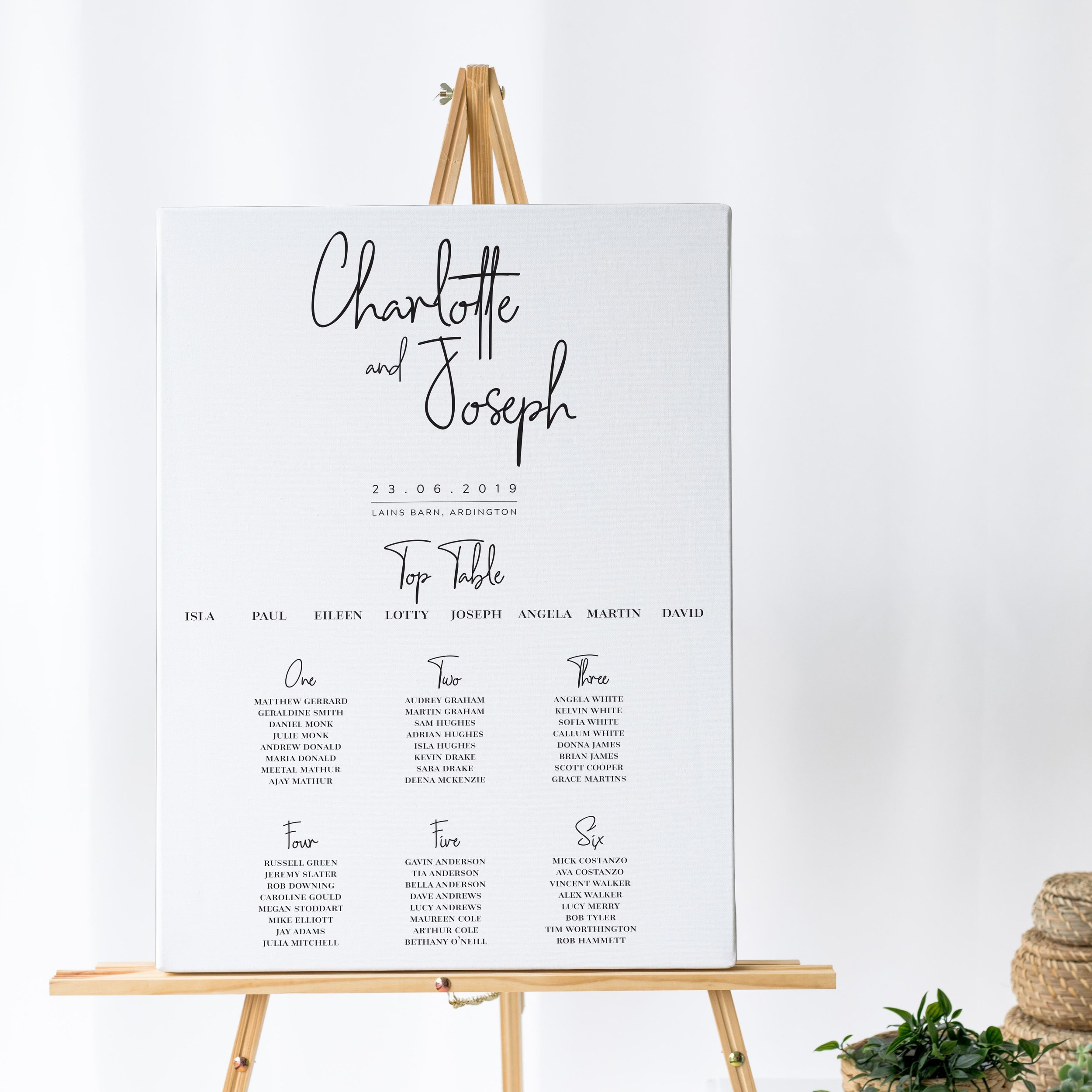 Chancery Lane - A striking handwritten typeface takes centre stage on this modern Table Plan from our Chancery Lane collection - offering a clean and simple style for the contemporary wedding day.Our table plans are printed on one of two base options, including waterproof foamex, and can be combined with a matching welcome sign and / or order of the day for a discounted rate.The layout is customisable and all orders include one-on-one design with a comprehensive proofing process to ensure accuracy.