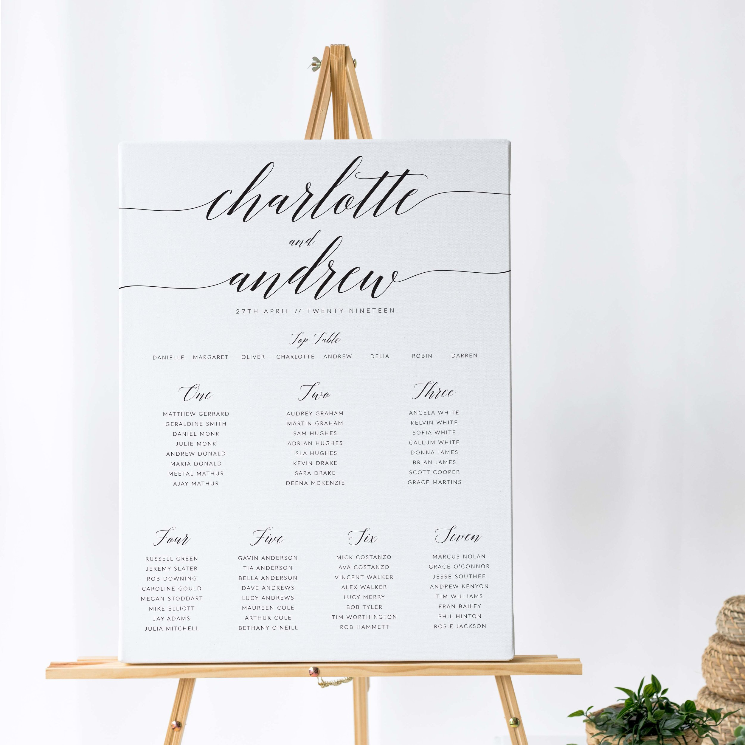 King's Road - One of our most popular collections, King's Road combines an elegant handwritten script alongside modern typography for a contemporary and elegant Table Plan design.Our table plans are printed on one of two base options, including waterproof foamex, and can be combined with a matching welcome sign and / or order of the day for a discounted rate.The layout is customisable and all orders include one-on-one design with a comprehensive proofing process to ensure accuracy.