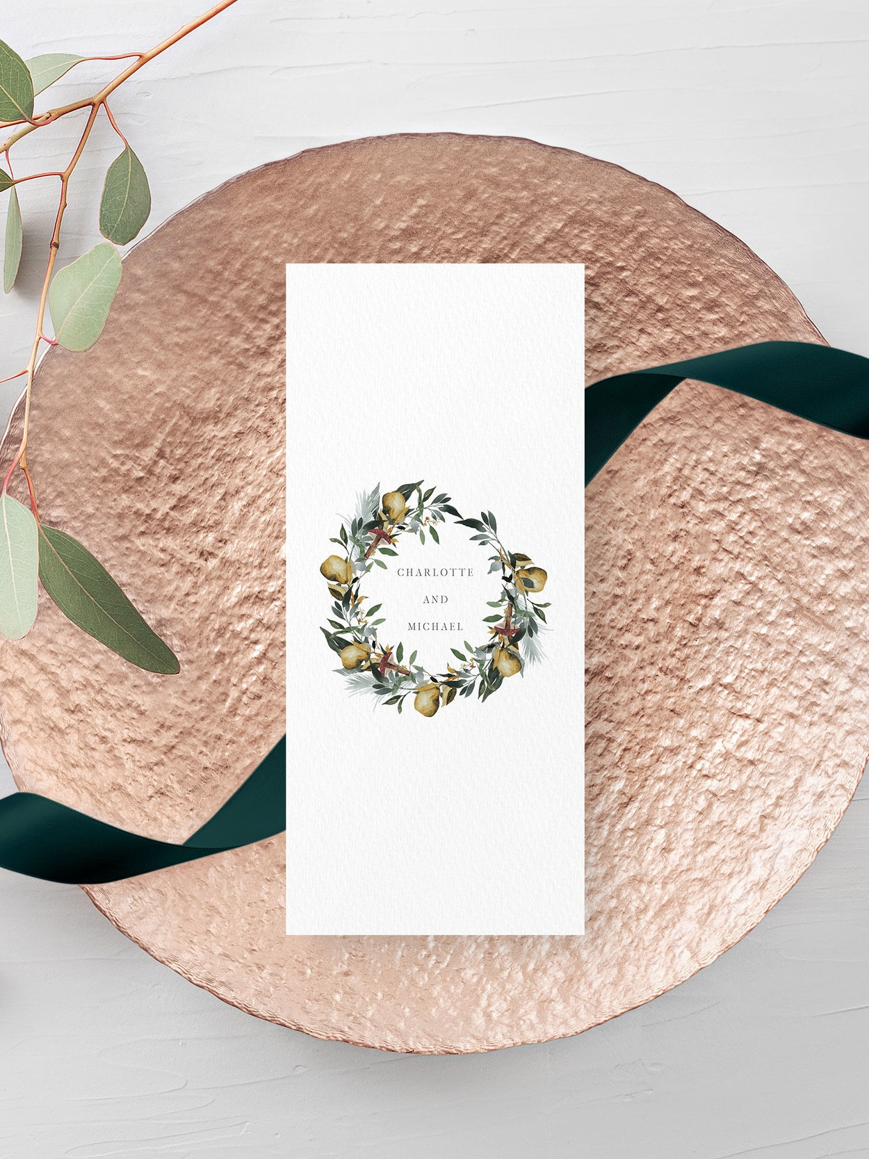 Double-sided printing - Whether you have a long wedding breakfast with a number of different course options, or simply wish to have additional decoration on the other side, all of our menu cards can be printed on the reverse.
