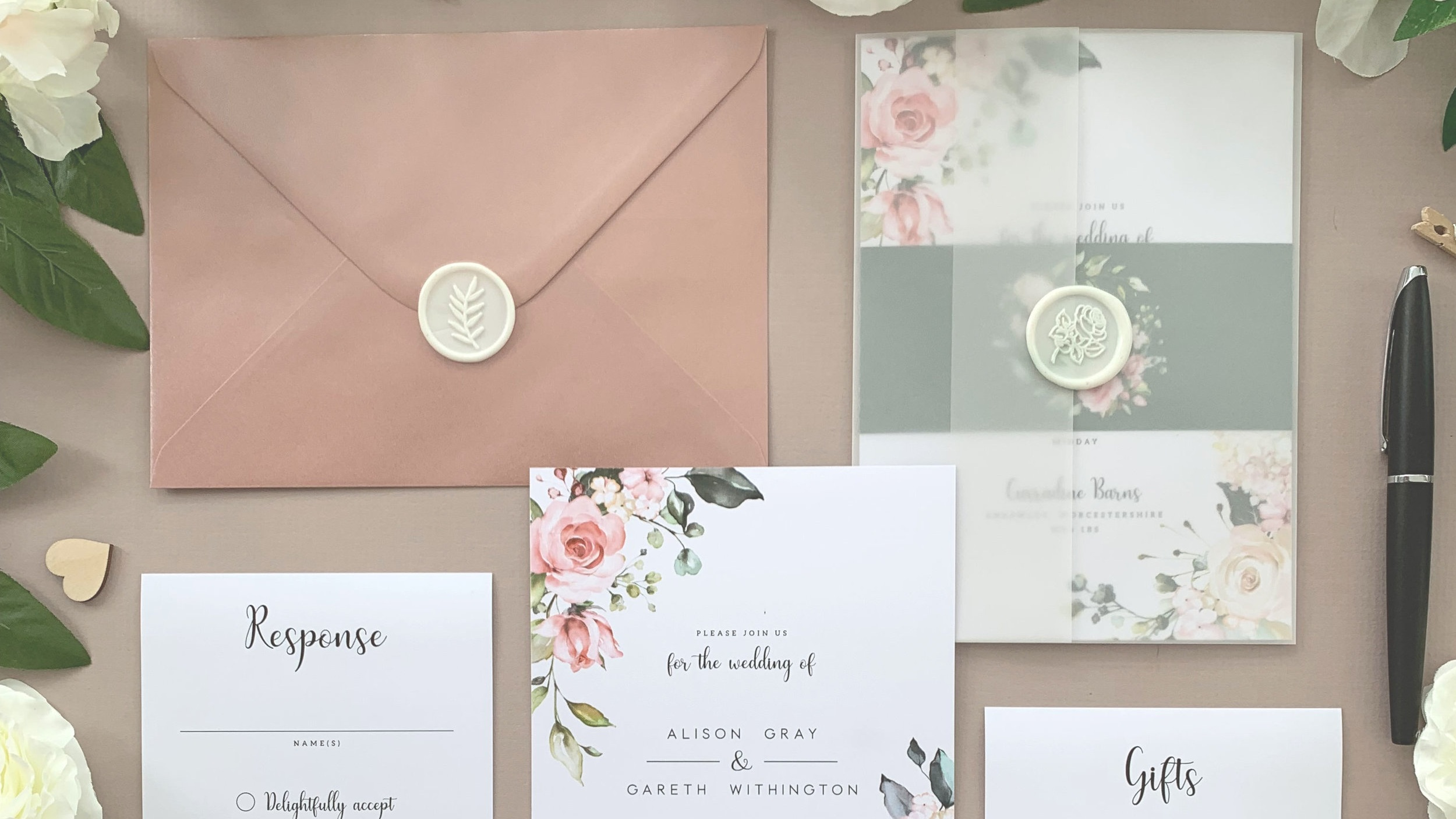 Elle Bee Design Worcester Wedding Invitations Stationery