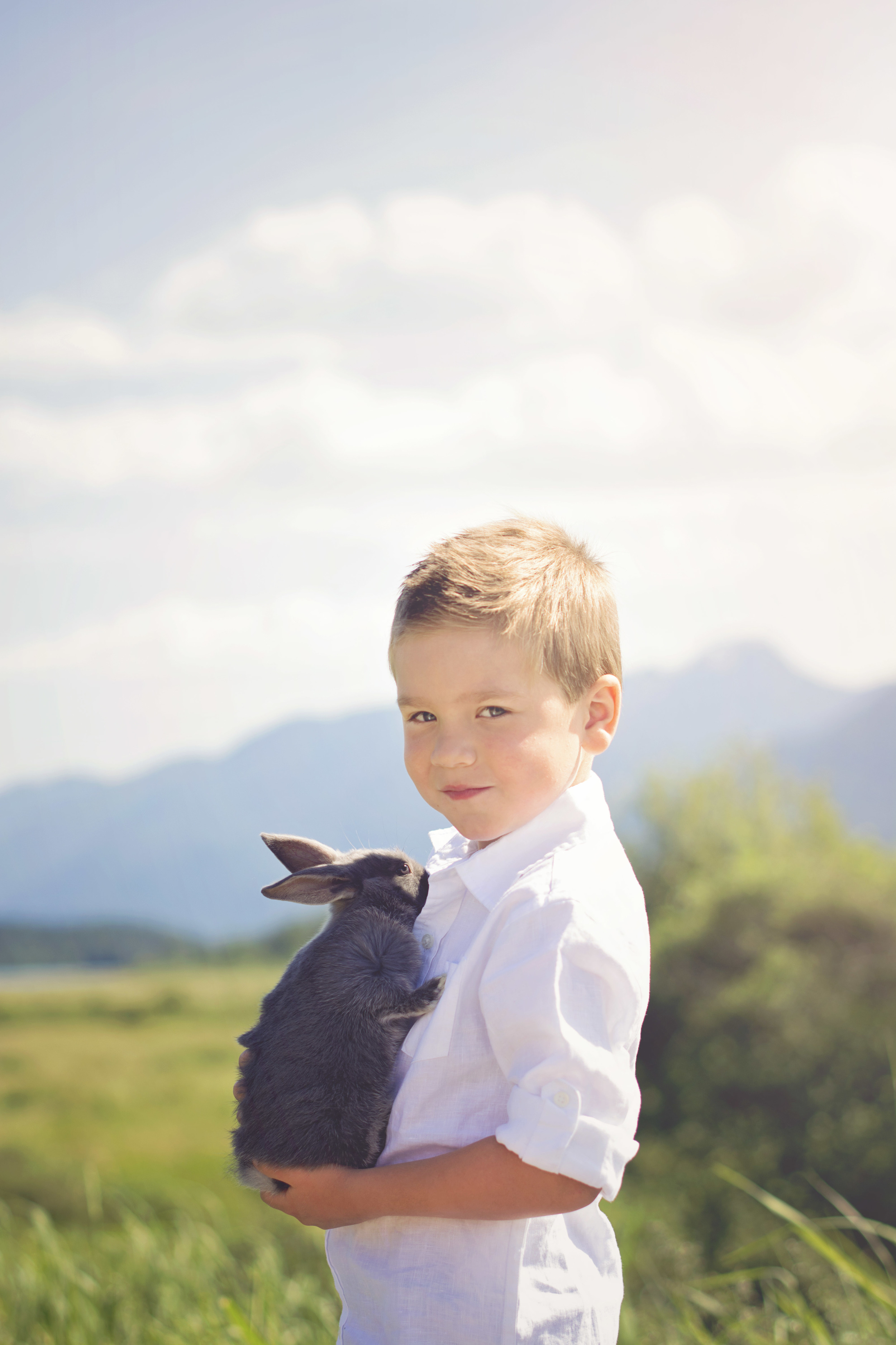 This kid was so gentle with this baby bunny! She was only 5 weeks old at this shoot.