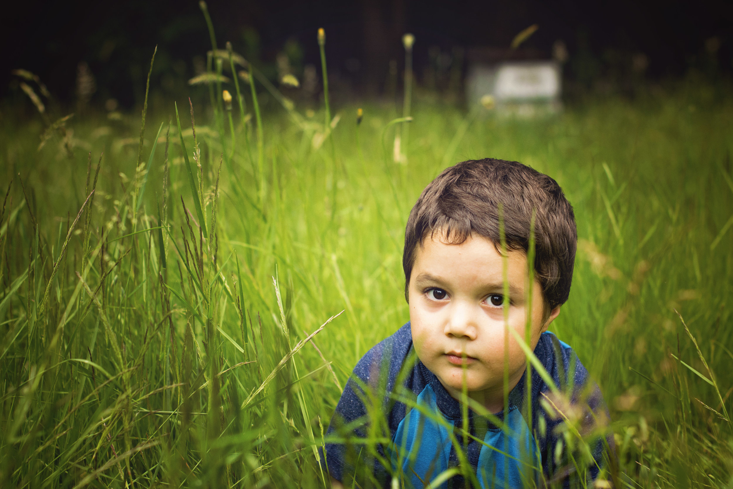 There is a little monkey in the grass...a serious one! lol  Thanks for checking out my blog! Hope you enjoyed checking out these two cuties!