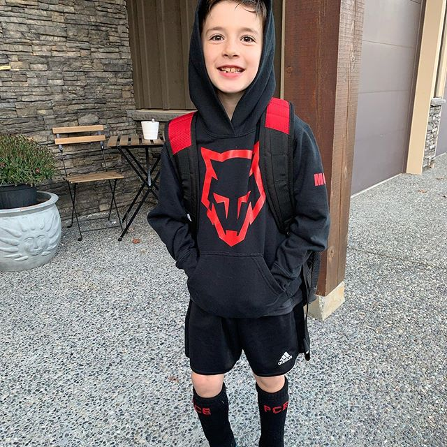 Soccer season...brisk and cold...but Marcus got his new indoor soccer shoes and ash played in the downpour with breaks of sun and double rainbows ⚽️ 💕 🌈