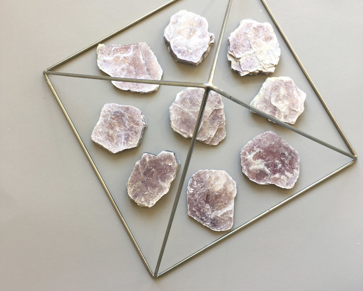 Lepidolite for calming. Everything will be alright.
