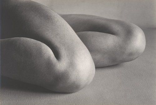 Time to relax the body. photo by Edward Weston, Knees, 1927
