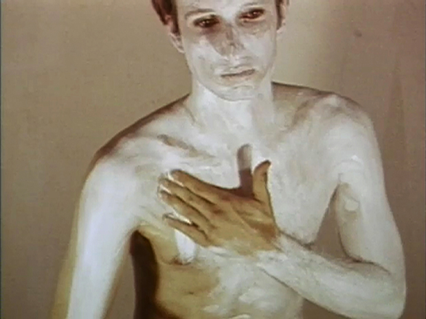 """Art Make-Up"", 1967-8, 40 min, colour video with sound, 16mm - Bruce Nauman"
