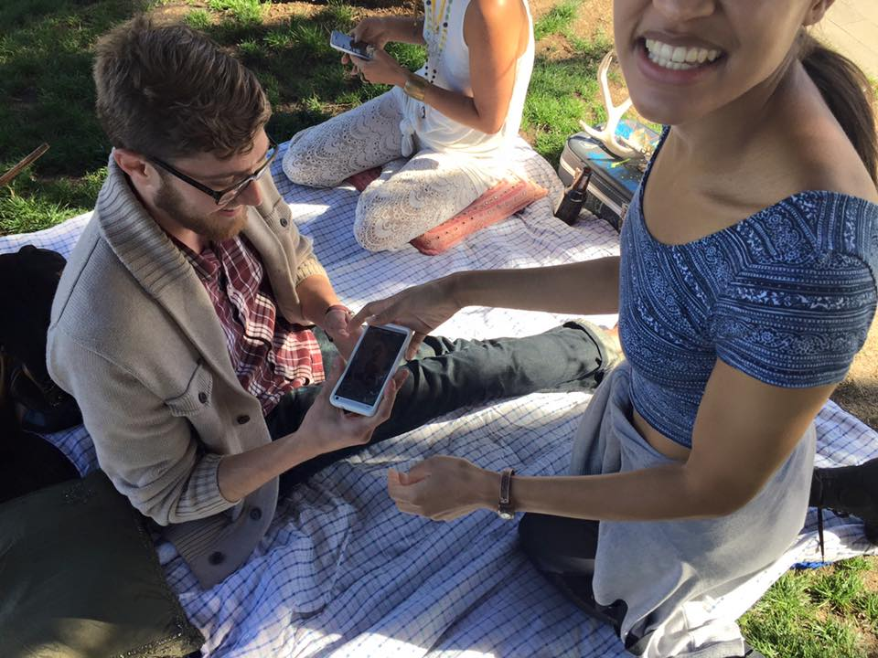 Art sales at Dolores Park