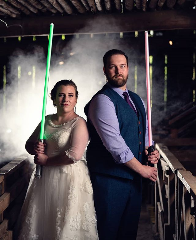 May the 4th be with you! Katie & Jason had an amazing star wars and comic book inspired day. Thanks for having us celebrate with you! . . Make sure your photos are as amazing as you are! Book us for your wedding, or just get some awesome portraits. .  #portlandweddingphotographer #weddingphotography #wedding #bride #weddingphotographer #weddingday #weddingdress #photography #love #weddinginspiration #groom  #weddings #photographer  #instawedding #photooftheday #weddinginspo #weddingmakeup #weddingplanning #photoshoot #couple #bridal #mauiweddingphotographer #atmosphereareosol #tampaweddingphotographer #starwars #maythe4thbewithyou #lightsabers #jedi
