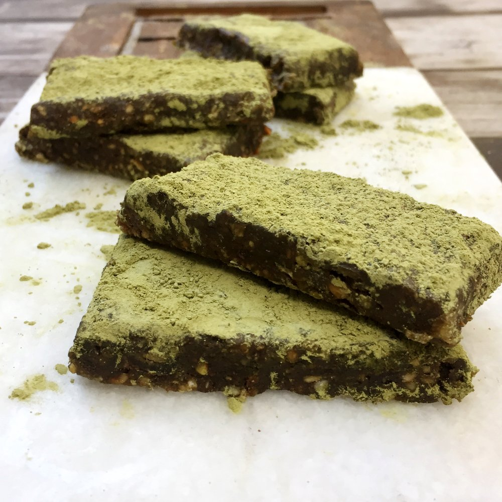 Matcha Chocolate Date Bar -