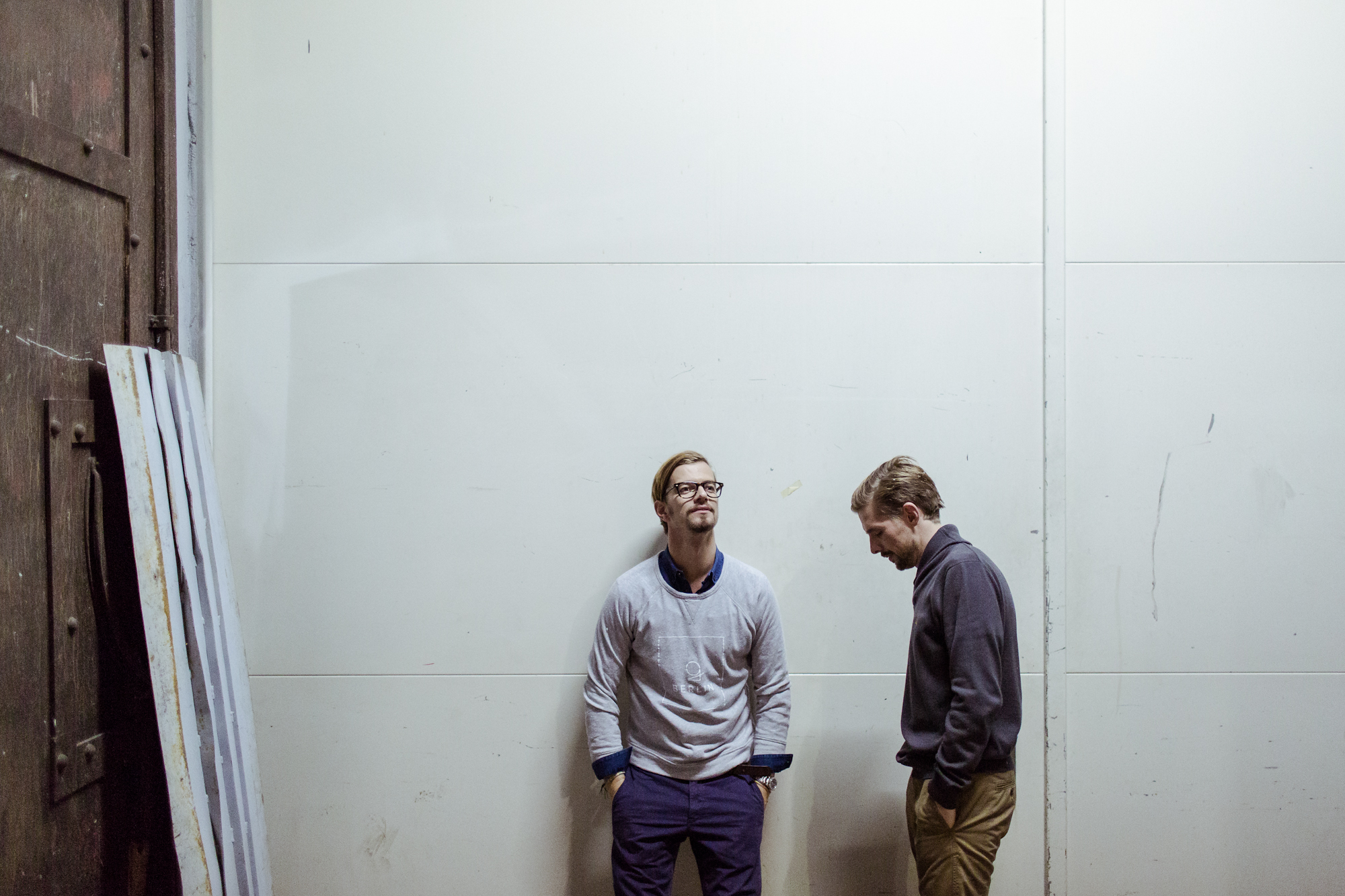"Joko and Klaas behind the scenes of their TV Show ""Circus HalliGalli""."