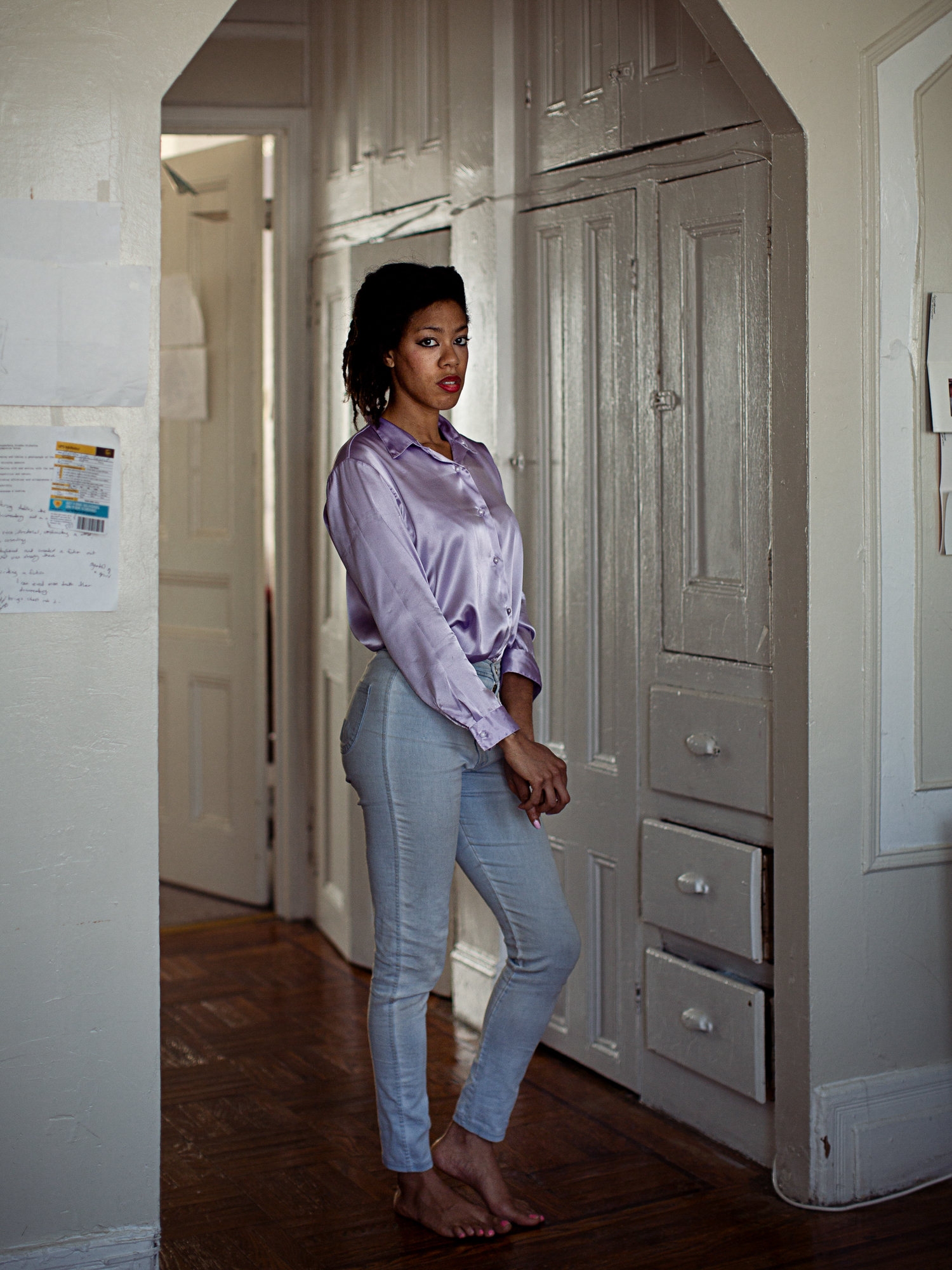 Photographer Deana Lawson in Bedford Styvesant, Brooklyn.