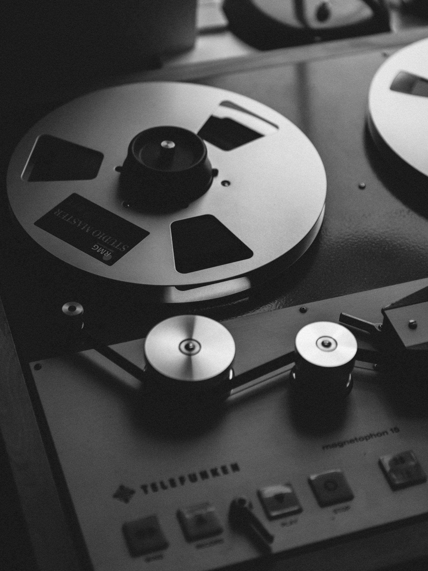 Tape machine of Nils Frahm in his production studio in Berlin.