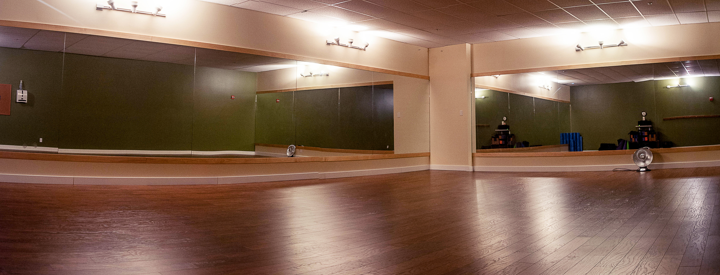 Mind Body Yoga Studio - Low Light for Optimal RelaxationHeatedNewly-Redone FlooringMirrored Walls for Open Feel