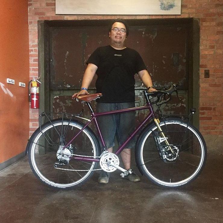 Bike built by student, Lucas