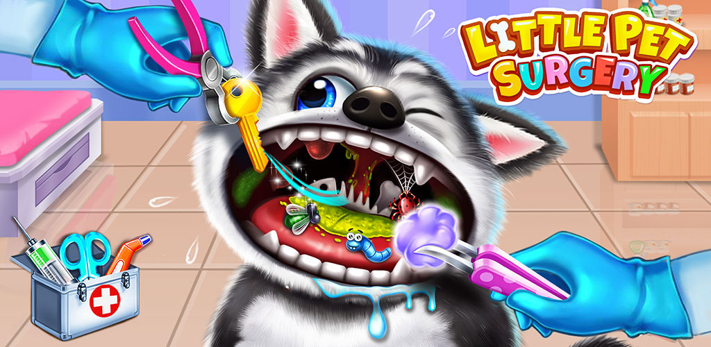 Pet Vet Care Doctor Games!  Do you want to open your own pet clinic? There are 4 super cute pets are waiting for you. They are Husky, Poodle, Siamese cat, Garfield cat.