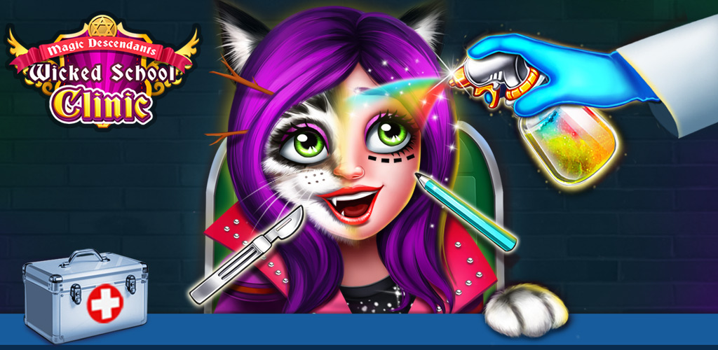 Magic Wicked School Clinic  Welcome to Magic wicked school! You can watch a battle between good witches and bad witches. Guess who can be the queen of magic?