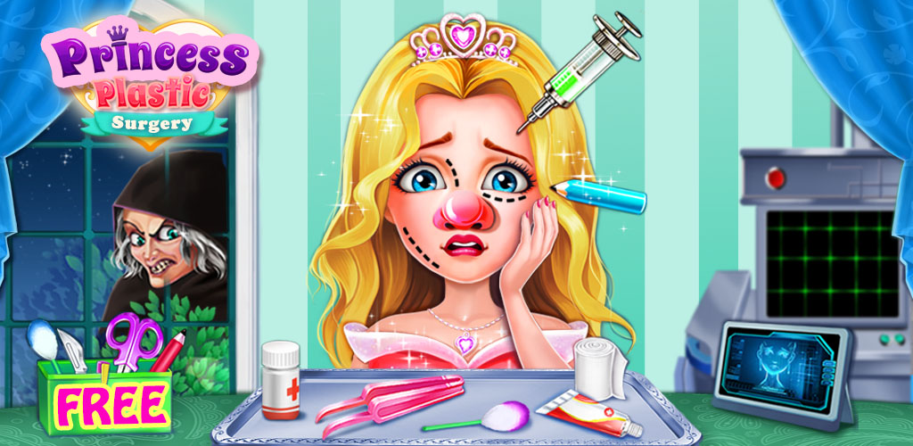 Princess Plastic Surgery  Be the greatest plastic surgery doctor & make the princesses dream come true!SOS! Princesses are cursed by evil witch! The witch made them ugly!