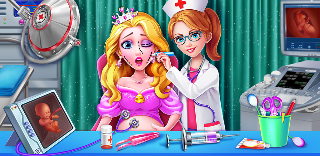 Princess Emergency Doctor  Use your excellent plastic surgery skill and professional medical tools to help princess mommies live through emergencies and witness the born of cute babies!