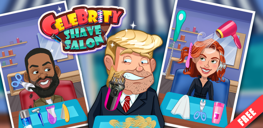 Celebrity Shave - Salon Games  Can you help our famous celebrities to have a fresh shave and makeover? They need a perfect look.Celebrity Shave Salon is a fun Beard, Hair cut and Leg spa game with 6 Celebrities in total to choose from!