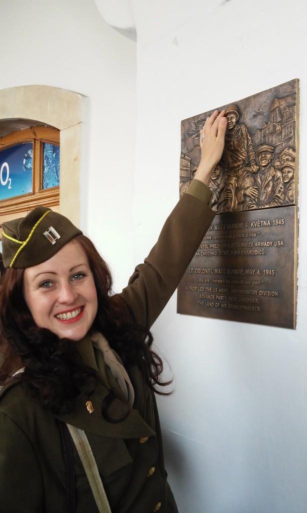 Domazlice, Czech Republic plaque to Matt Konop