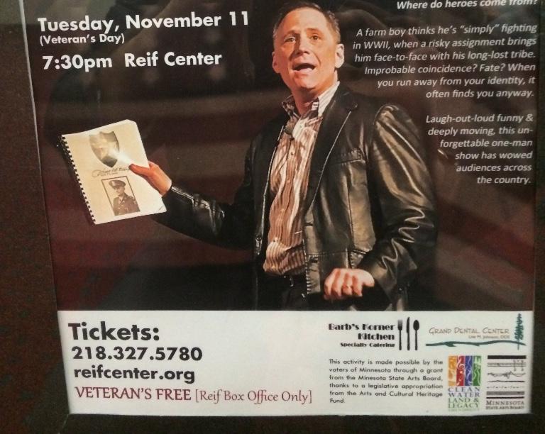Reif Center, Grand Rapids, Minnesota show poster.