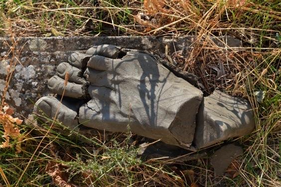 "Perishable Fragments / Frammenti Deperibile . L 16"" Unfired Clay; Greve in Chianti."