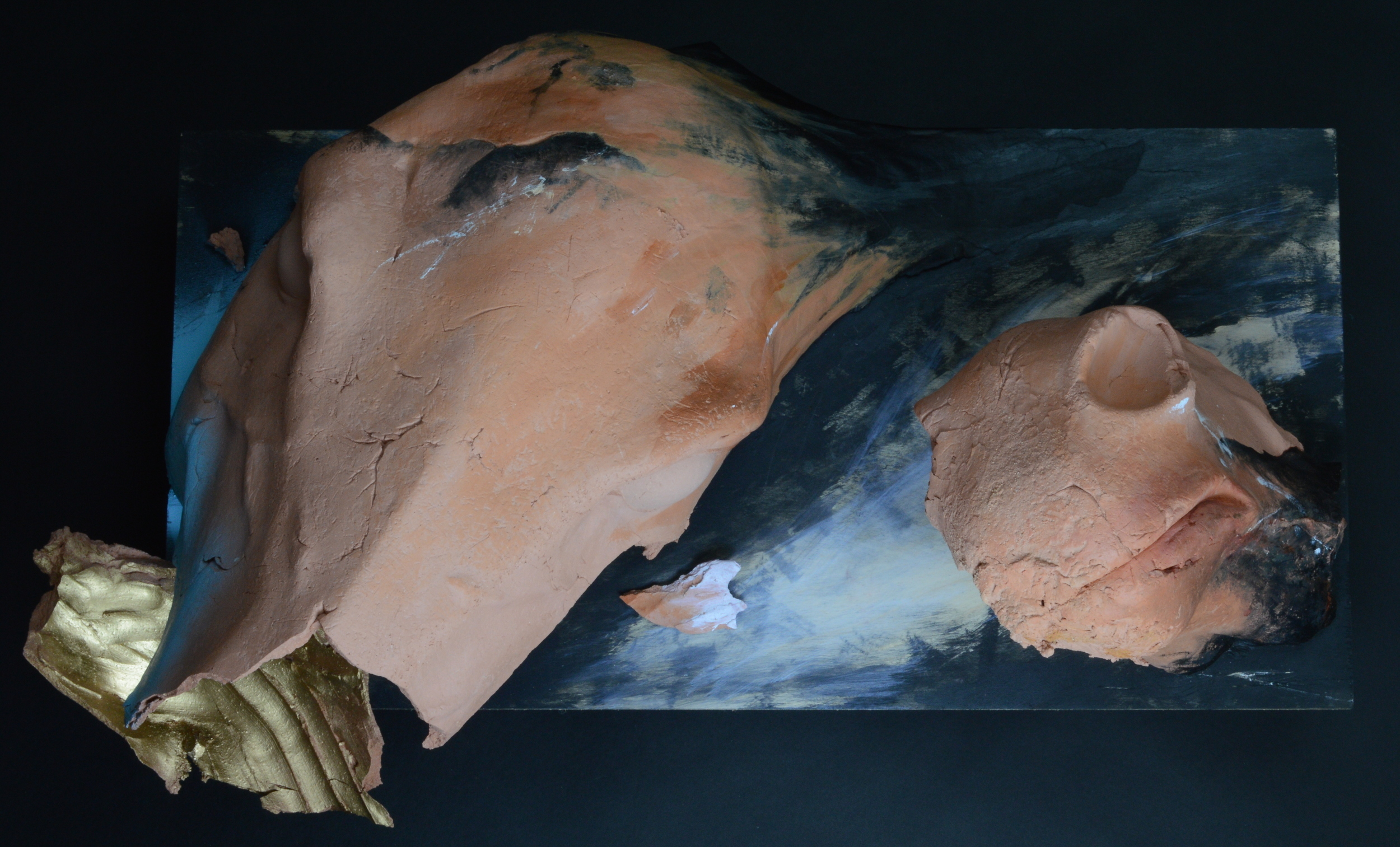 """Existing ( ) Not Existing  .L: 26"""" Clay, Paint, Wood  ."""
