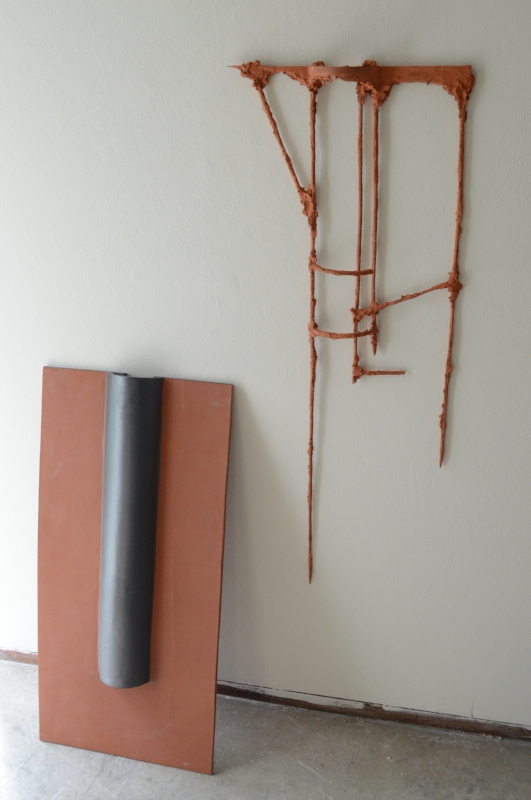 """Untitled (wall piece)H: 42""""Ceramic, with fragment from  Josephine Mette Larsen ."""