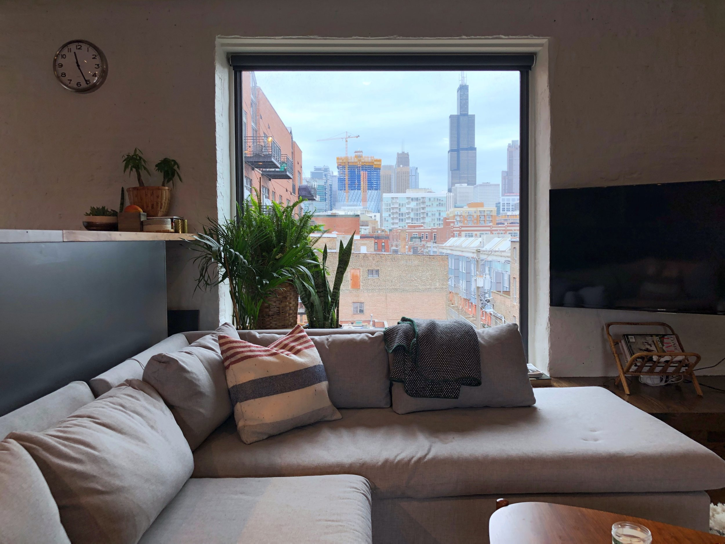 West Loop living room