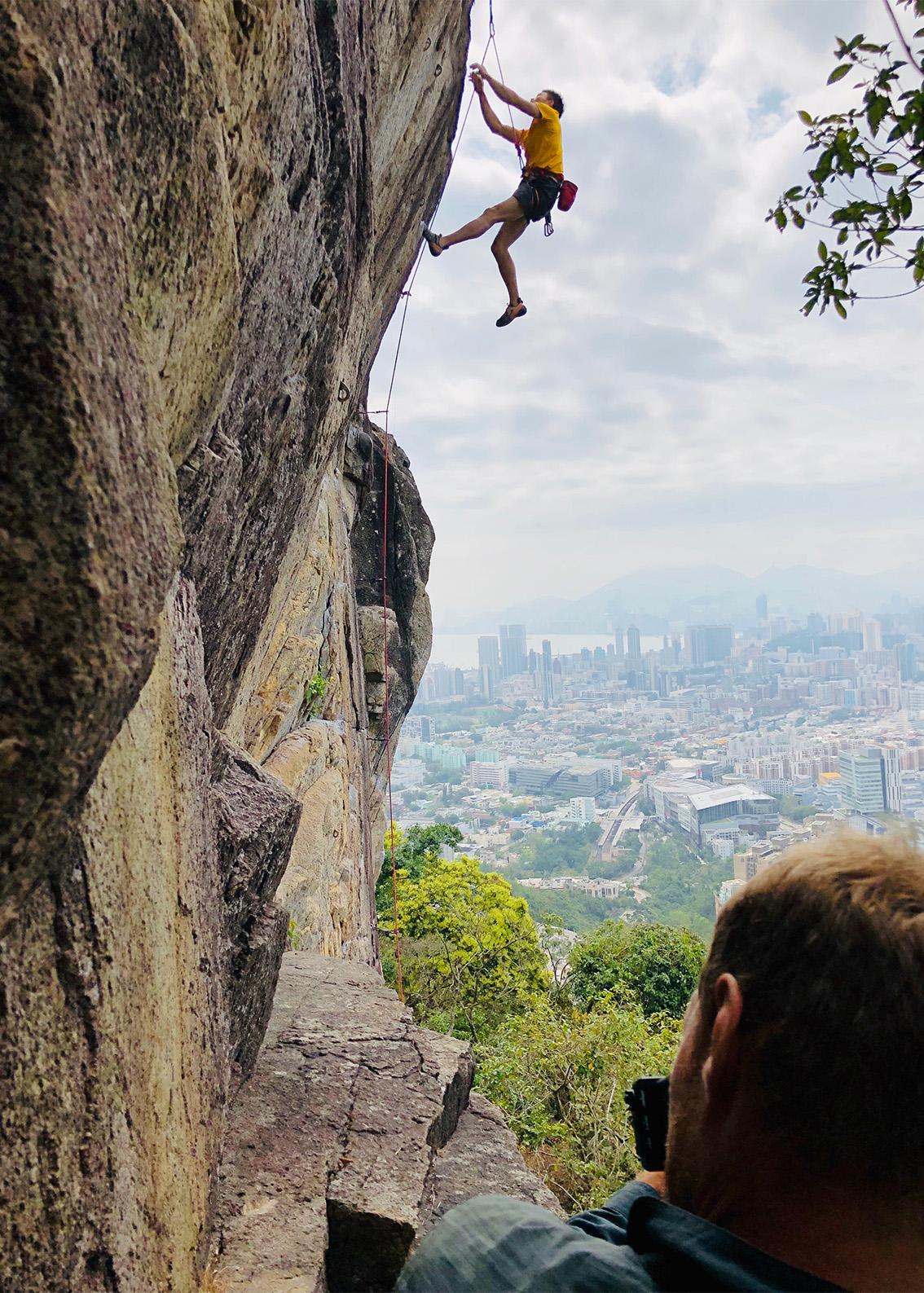 Rock Wall Over looking Hong Kong