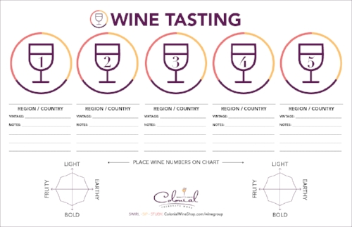 Click here for a printable PDF 11x17 Tasting Mat.