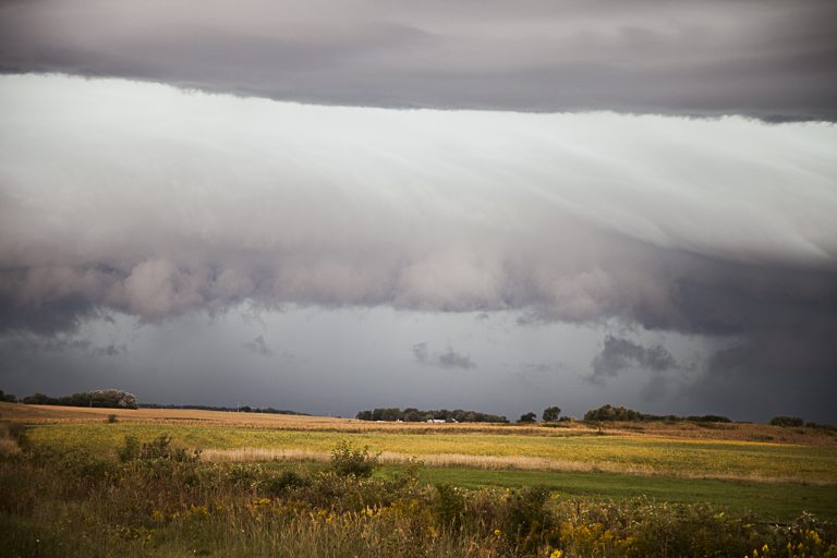 Close-up of Arcus Cloud Looking West along Highway 20 South of Alden, Iowa, PHOTO by CRAIG JOHNSON