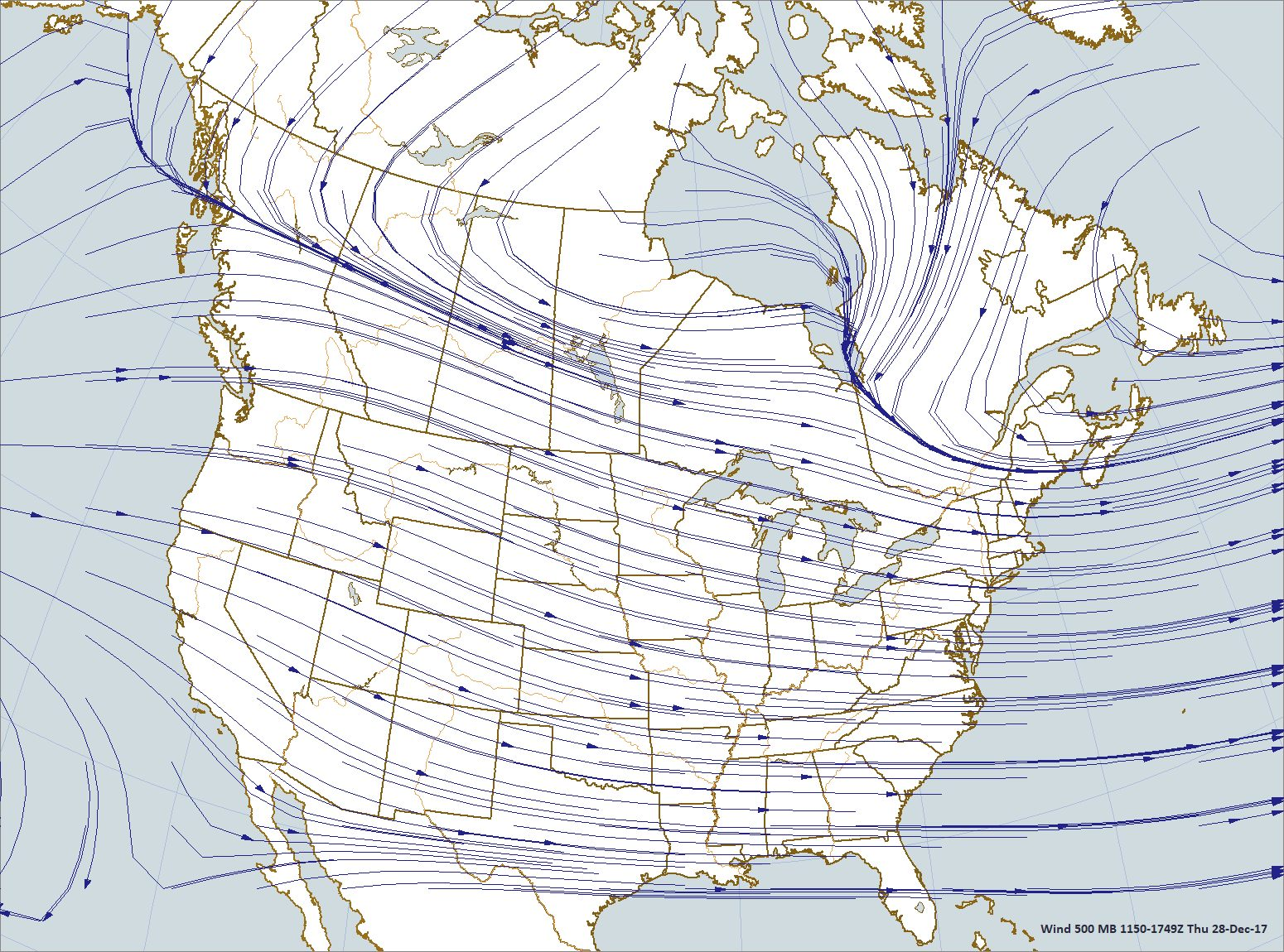 Map plotted by Digital Atmosphere; Software available at www.weathergraphics. com
