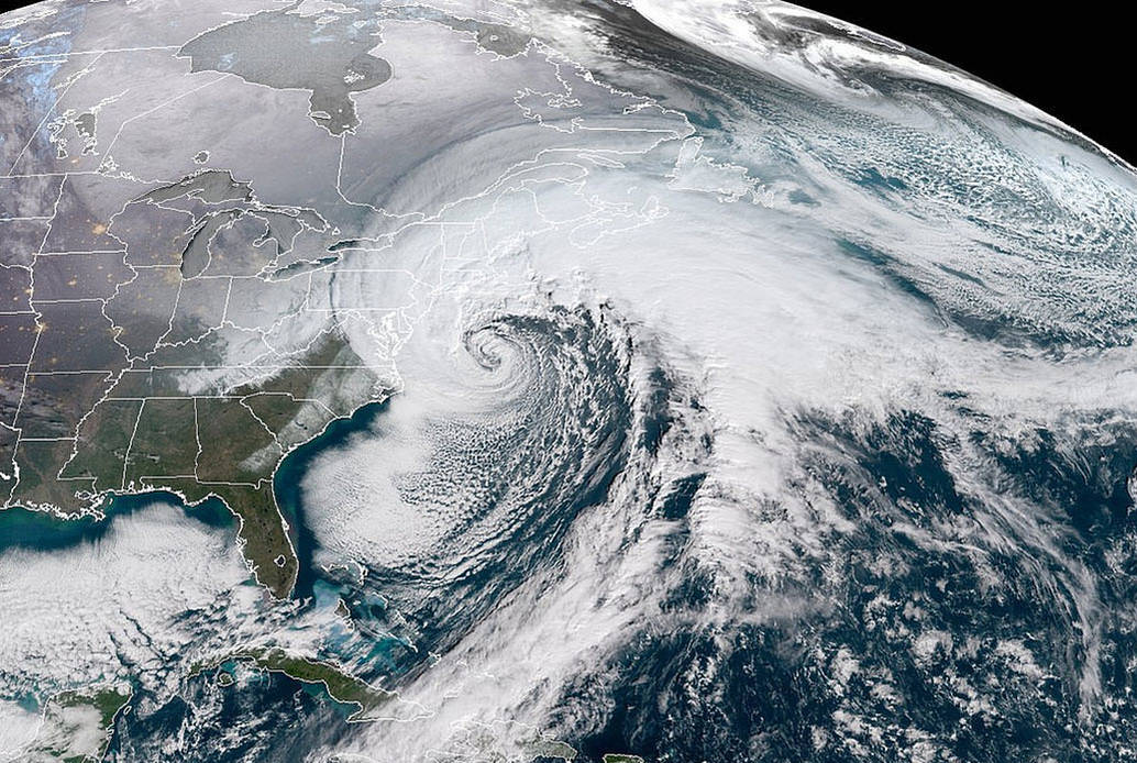 Photo Courtesy of NOAA/National Weather Service, GOES-16, January 2018