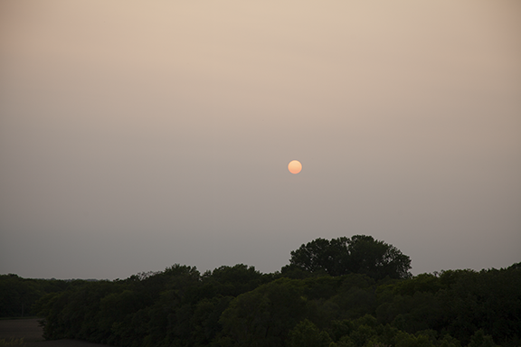 Smoke over central Iowa, Photo by Craig Johnson
