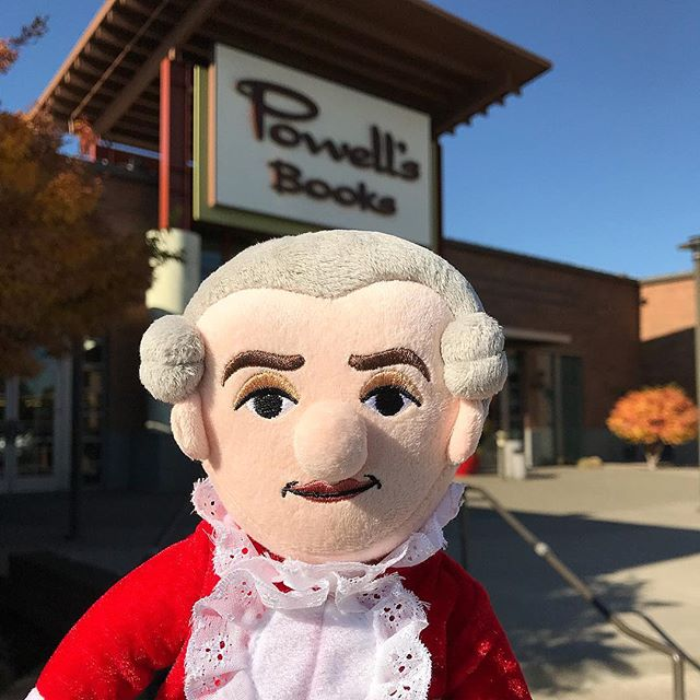 "#MiniMozart Sighting: 🎶✌🏻📚 Wolfgang Amadeus (of the petite plush variety) hit @powellsbooks for some afternoon ""sight reading."" ❤️ * * * * * * * #mozart #wolfgangamadeusmozart #wamozart #classicalcomposer #instaclassical #pdxmusic #pdxmusicscene #powellsbooks #powellscityofbooks #powellsbookstore #travelportland #composer #classicalmusician #classicalmusic #musiclovers #musiclover #musicstudent #musicstudents #youcaninportland #cedarhillscrossing #pdxpipeline #pdxavsquad #wolfgangamadeus #littlemozart #littlethinkers #littlemozartdoll  #plushielife #happeninginpdx #composerlife"