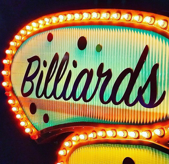 Cue the Billiards @grandcentralbowl. 🎳 👈🏻🎱 . . . . . . . #grandcentralbowling #pdx #billiards #billiards🎱 #sign #neonsigns #downtownpdx #traveloregon #thingstodopdx #travelportland #neonsign #neonsignage #games #billiardtable #retrosigns #retrosign #vintagesign #vintagesigns
