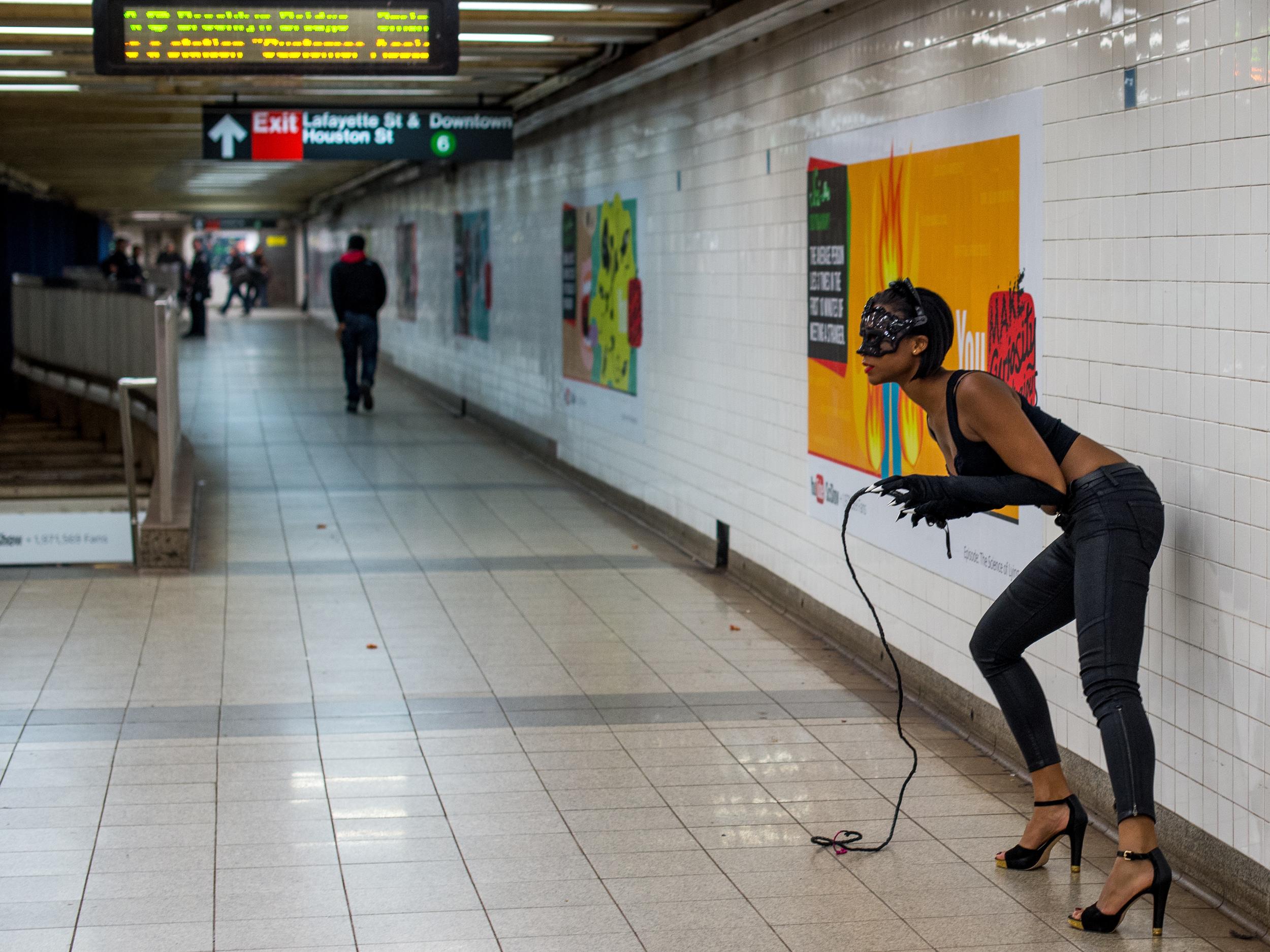 Catwoman NYC Subway